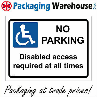 £5.95 • Buy Ve052 No Parking Disabled Access Required At All Times Sign Hospital Doctors