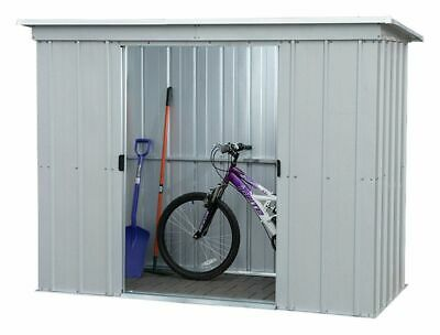 Yardmaster Pent Sliding Lockable Doors Metal Shed - 6x4, 8x4, 10x4 • 130£