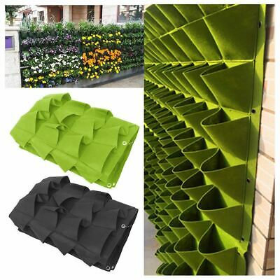 72 Pocket Planting Bag Hanging Wall Vertical Planter Hanging Flower Herb Garden • 11.99£