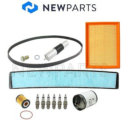 $117.92 • Buy Cabin Air Fuel Oil Filters Drain Plug Spark Plugs Belt KIT For BMW E46 3-Series