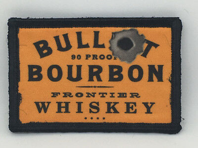 $7.99 • Buy Bullet Bourbon Whiskey Morale Patch Military Tactical Army Flag USA Hook Badge