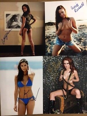 $ CDN60.12 • Buy 4 Signed Actress/Bikini Model Signed 8x10 Photos;Katie Cleary,Courtney Soule,Avr