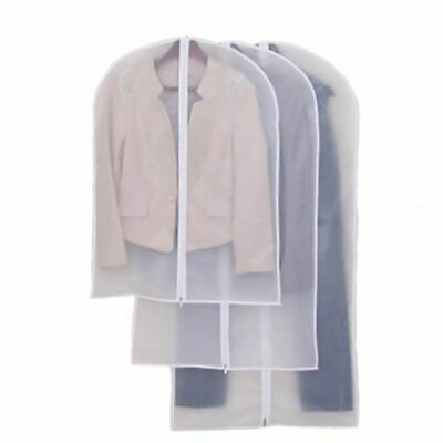 £3.59 • Buy Clear Suit Jacket Dress Garment Clothes Cover Dust Protector Travel Bag With Zip