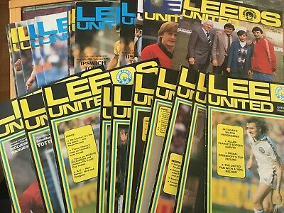 Leeds United HOME Programmes 1980/81 And 1981/82 League & Cup • 2.25£
