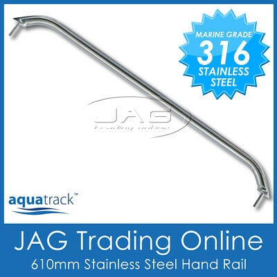 AU26.95 • Buy 1 X 316 STAINLESS STEEL 24  (610mm) MARINE HAND/GRAB RAIL - Boat/Yacht Handrail