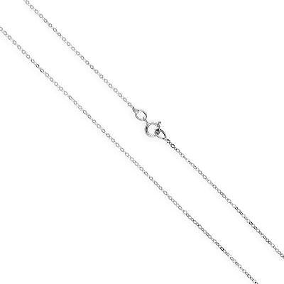 £30 • Buy 9ct White Gold Hammered Trace Chain 16 - 24 Inches