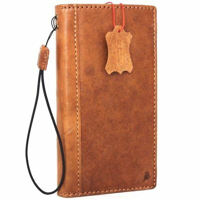 $ CDN38.91 • Buy Genuine Tanned Leather Case For Samsung Galaxy Note 8 Book Wallet Cover Slim