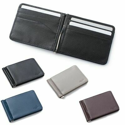 $ CDN7.30 • Buy Men Slim Leather Bifold ID Credit Card Wallet With Removable Money Clip