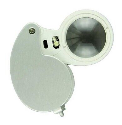 LED Illuminated Jewellers Jewellery Loupe Magnifying Glass Eye Lens 40 X 25mm • 3.89£