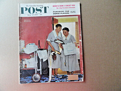 $ CDN31.88 • Buy Saturday Evening Post Magazine June 29 1957 Complete Norman Rockwell Cover