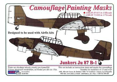 $20.99 • Buy AML Models 1/48 CAMOUFLAGE PAINT MASKS JUNKERS Ju-87B-1 STUKA German Dive Bomber