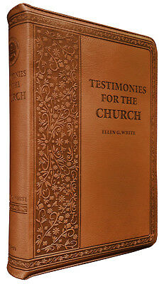 $79.99 • Buy Testimonies Of The Church Vol 1-9 Brown Imitation Leather Zippered By E G White