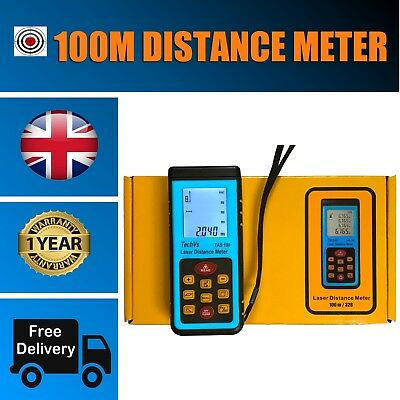100m Laser Distance Meter Digital Ultrasonic Range Finder Measure Diastimeter • 174.95£