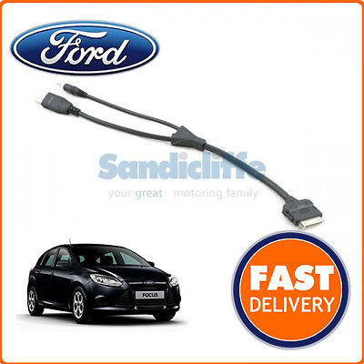 Genuine Ford Focus I-pod / Ipod Cable Connector Lead 2011 - 2013 • 43.68£