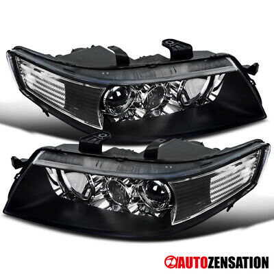 $159.99 • Buy For 2004-2005 Acura TSX Black Xenon HID Projector Headlights Lamps Replacement