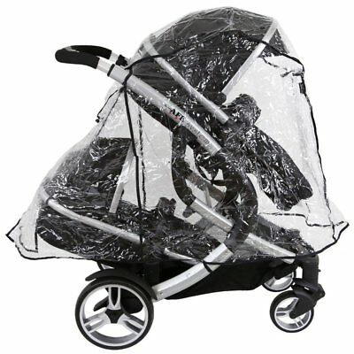 ISafe Tandem Raincover To Fit - Hauck Free Rider Twin Stroller • 13.95£