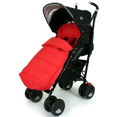 £25.81 • Buy XXL Large Luxury Foot-muff And Liner For Maclaren Techno XT - Warm Red (Red)