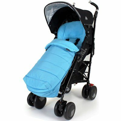 £25.81 • Buy XXL Large Luxury Foot-muff And Liner For Maclaren Techno XT - Ocean (Blue)