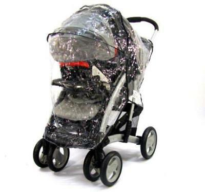 Zipped Travel System Raincover For Graco Pram Stroller • 12.95£