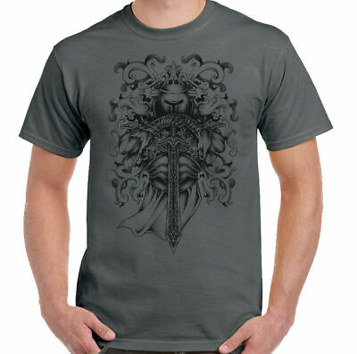 St George's Day T-Shirt Medieval Knight Illustration Mens Tattoo England Patriot • 7.94£