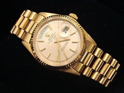 $ CDN14489.94 • Buy Mens Rolex Day-Date President Solid 18K Yellow Gold Watch Silver Vintage 1803