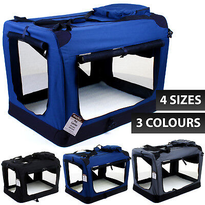 £29.99 • Buy Cat Dog Pet Fabric Carrier Portable Puppy Folding Crate Cage Travel Foldable Bag