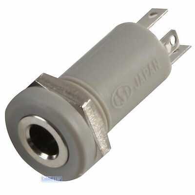 £1.95 • Buy 2.5mm Mini Stereo Jack Chassis 4 POLE 4P Panel Mount Input Socket Connector Grey