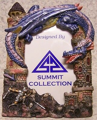 Picture Frame Medieval Purple Dragon 5 ½  X 7 ½  For 3 ¼  X 5  Picture NEW • 18.18£