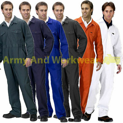 £14.95 • Buy Coverall Overall Boiler Suit Workwear Mens Boilersuit Hard Wearing Poly Cotton