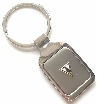 Personalised Engraved Masonic Triangle & Trowel Crested Key Ring + Pouch (K046) • 8£