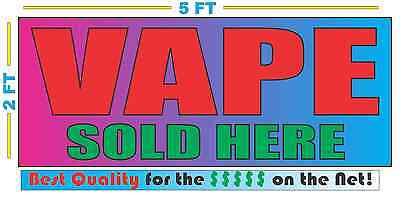 AU29.02 • Buy VAPE SOLD HERE Banner Sign 2x5