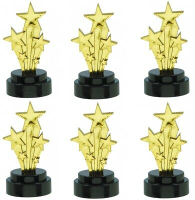 £7.95 • Buy 6 Small Gold Shooting Star Trophy Awards Hollywood Theme Party Prom Decorations