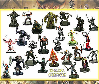AU82.83 • Buy 25 PACK LOT - Dungeons & Dragons / Pathfinder Miniatures, D&D Figures, RPG Minis