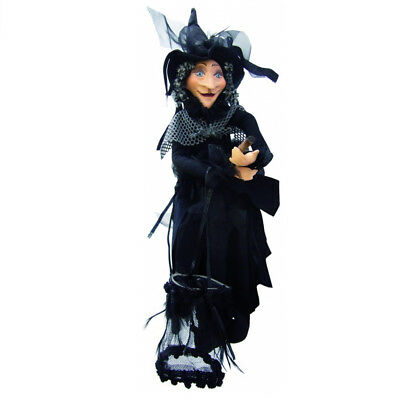 Witches Of Pendle - Klaudia Witch Flying (Black) 45cm (WOPKLAU45BLAC) • 24.95£