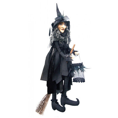 Witches Of Pendle - Klaudia Witch Flying (Black) 65cm (WOPKLAU65BLAC) • 31.95£
