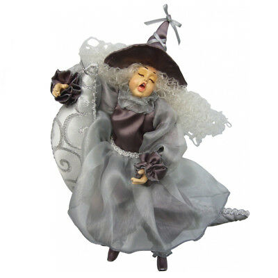 Witches Of Pendle - Moon Dreamer Witch Hanging (Purple & Silver) 27cm • 20.95£