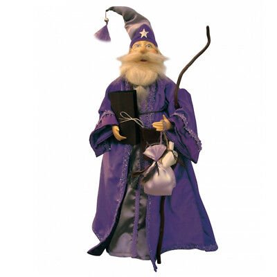 Witches Of Pendle - Oswald Wizard Standing (Purple) 50cm (WOPOSWAWIZA50PURP) • 29.95£