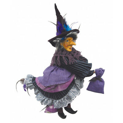 Witches Of Pendle - Rowena Witch Flying (Purple) 35cm (WOPROWE35PURP) • 24.95£