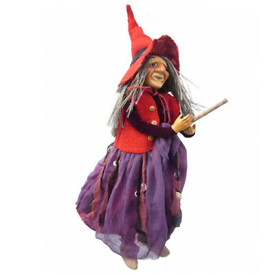 Witches Of Pendle - Violet Witch Flying (Red & Purple) 45cm (WOPVIOL45REDPURP) • 24.95£