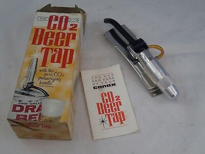 Vintage Conax Tip-Tap Beer Tap CO2 Cartridge In Handle Design W/ Box • 5.04£
