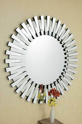 Extra Large Unique 3D Sunburst Venetian Round Wall Mirror 4Ft Or 120cm New • 182.69£