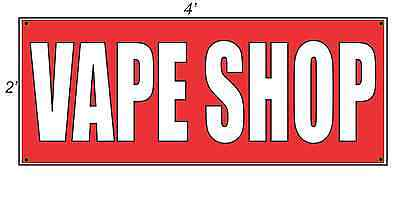 AU24.65 • Buy 2x4 VAPE SHOP Red & White Banner Sign NEW BEST PRICE Free Shipping
