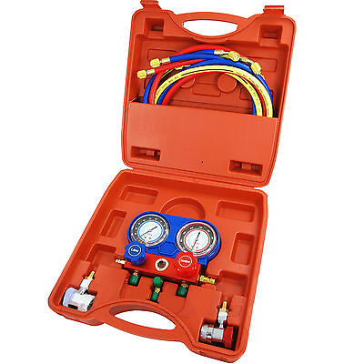 £39.95 • Buy Pro Air Conditioning AC Diagnostic A/C Manifold Gauge Tool Kit Refrigeration Set