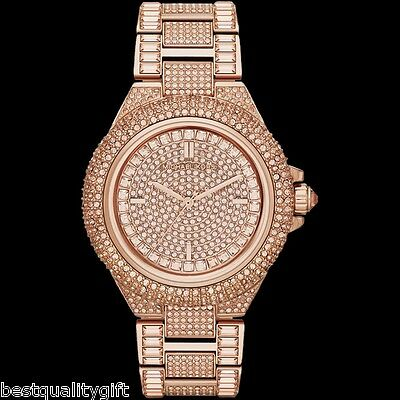 3aecdf9ef87d Michael Kors Camille Rose Gold Tone Pave