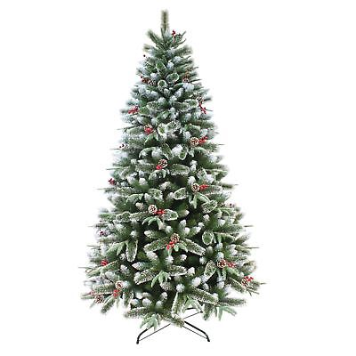 Gorgeous Luxury Snow Frosted Mixed Pine Artificial Christmas Tree 6ft Or 7ft • 89£