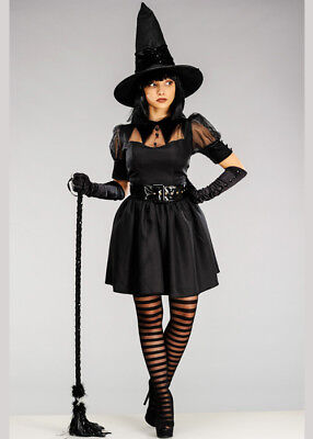 $ CDN79.22 • Buy Womens Halloween Black Bewitching Witch Adult Fancy Dress Costume