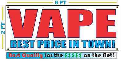 AU32.06 • Buy VAPE BEST PRICE IN TOWN Banner Sign NEW