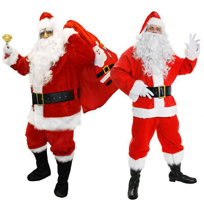 Adults Deluxe Santa Claus Costume Choice Father Christmas Xmas Fancy Dress • 35.99£