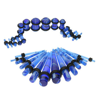 32pc Gauges Kit Ear Stretcher Tapers And Plugs Tunnel 14G-00G Stretching Set • 5.57£