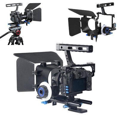 $ CDN146.16 • Buy Metal Camera Cage Video Stabilizer & Rod Rig Follow Focus For SONY A6300 A6000